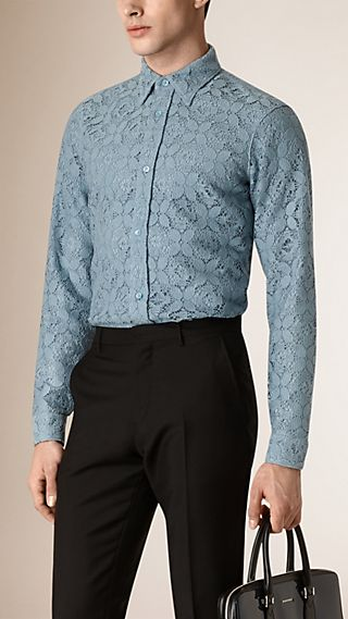 Slim Fit Italian Lace Shirt