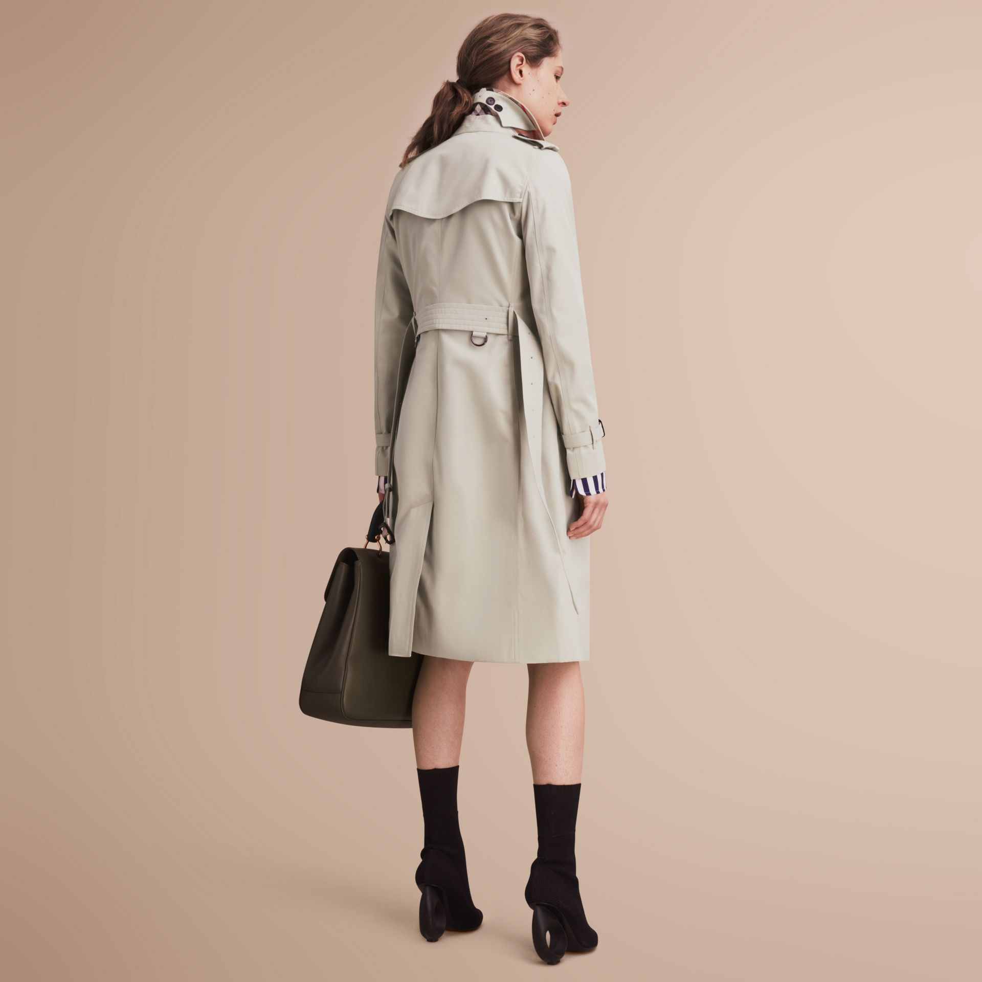 The Kensington – Extra-long Heritage Trench Coat in Stone - gallery image 3
