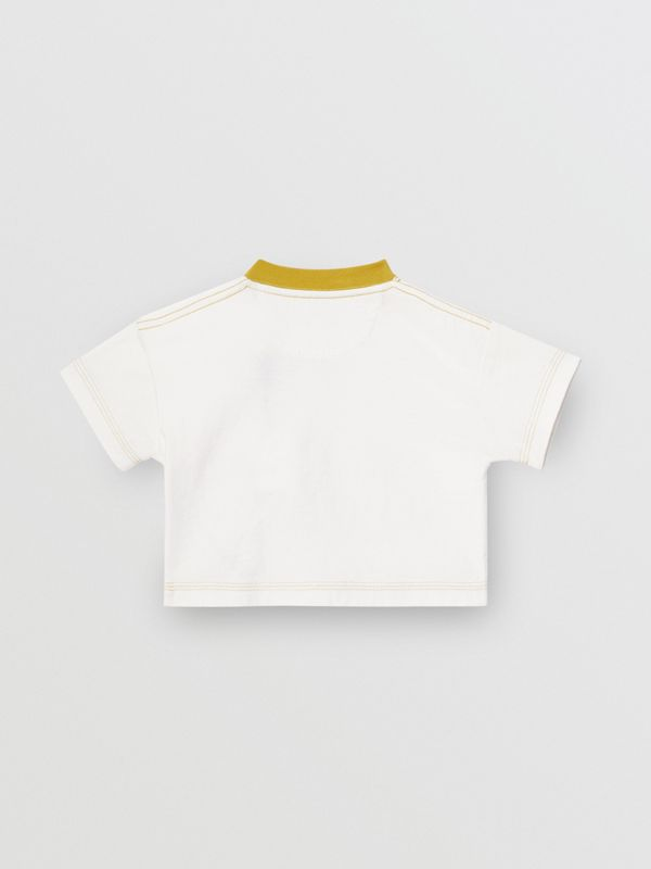 Comic Strip Print Cotton T-Shirt in Light Stone - Children | Burberry - cell image 3