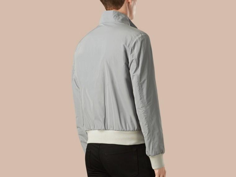 Hellgrau Packbare Jacke mit Frontreißverschluss - cell image 1