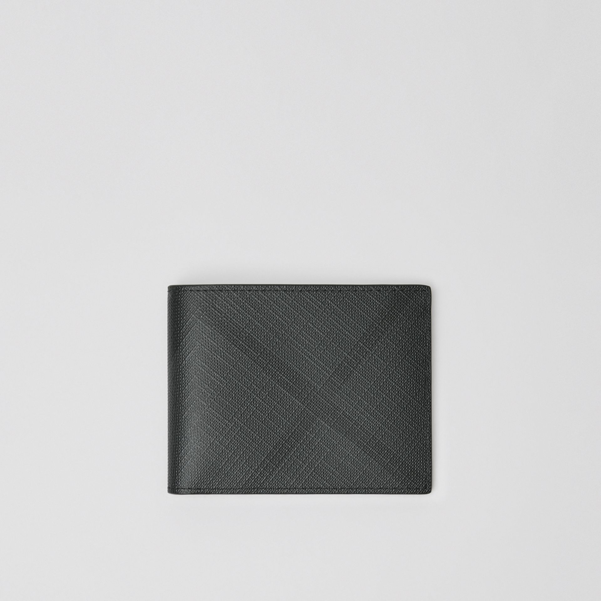 London Check Bifold Wallet in Charcoal/black - Men | Burberry United Kingdom - gallery image 0