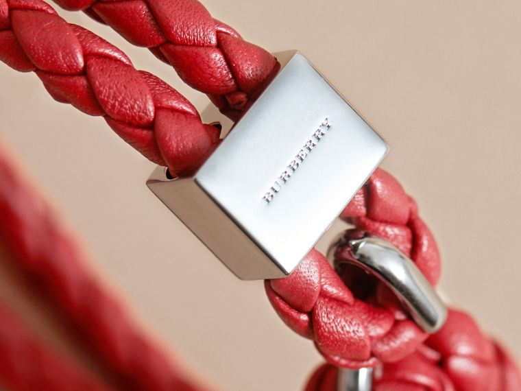 Braided Leather Bracelet Parade Red - cell image 1