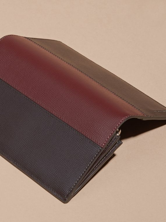 Wine/burgundy red Colour Block London Leather Continental Wallet Wine/burgundy Red - cell image 3