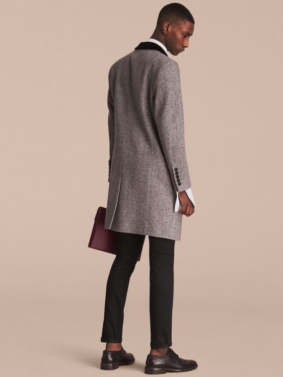 Velvet Collar Wool Tweed Topcoat - Men | Burberry Singapore - cell image 2