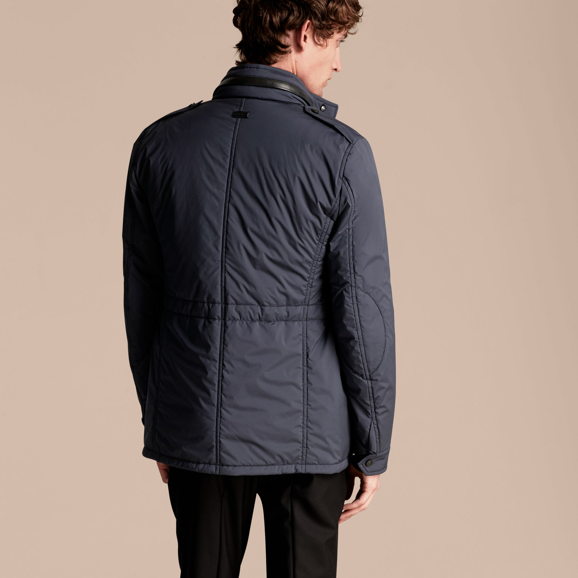 Navy Lightweight Field Jacket with Detachable Gilet - gallery image 3