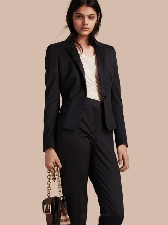 Wool Blend Tuxedo Jacket