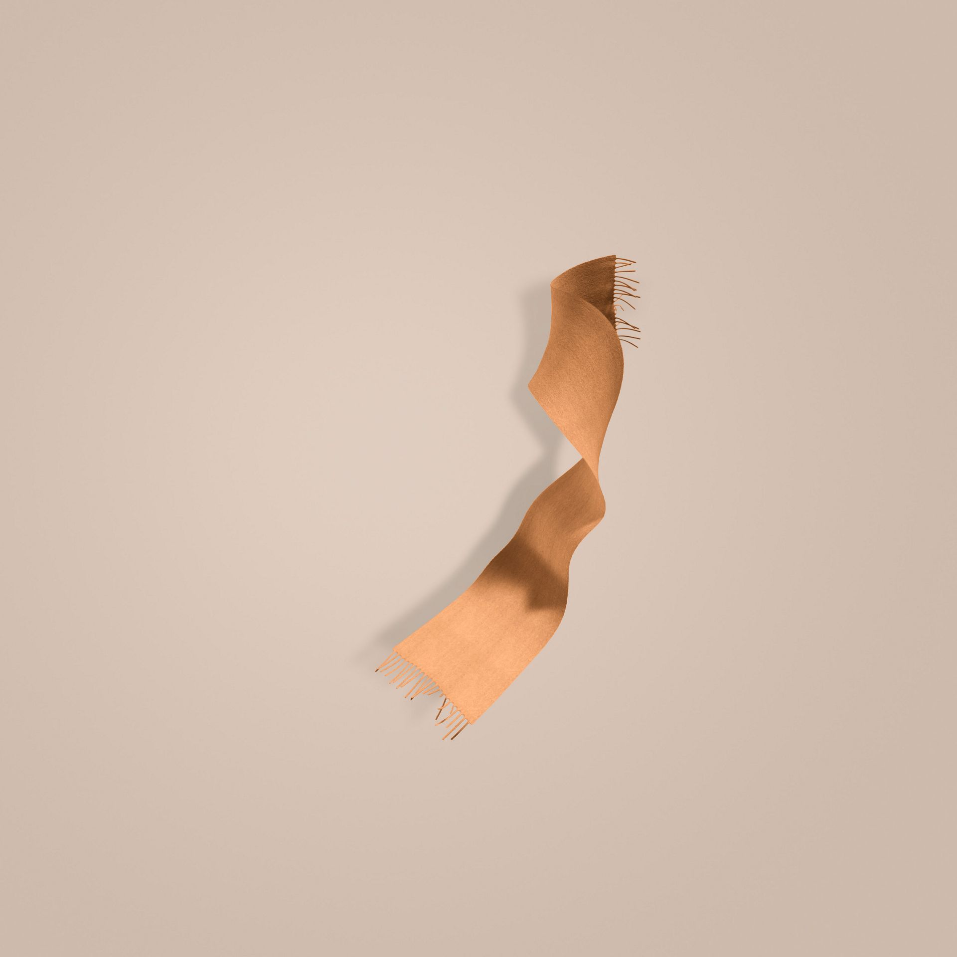 Cammello Sciarpa classica mini in cashmere Cammello - immagine della galleria 1