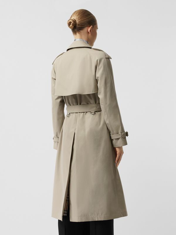 Grommet Detail Cotton Gabardine Trench Coat in Stone - Women | Burberry - cell image 2