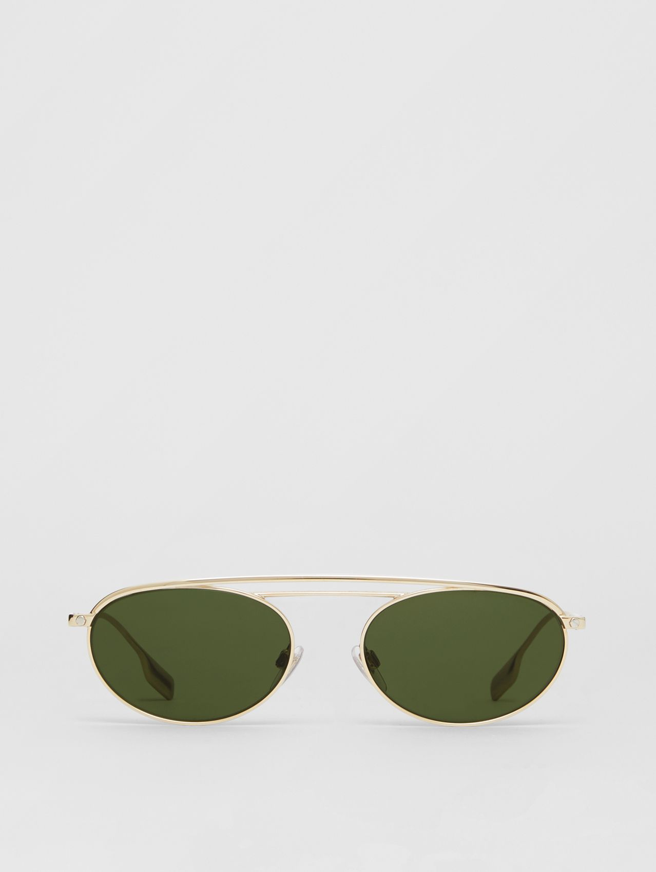 Oval Frame Sunglasses in Green