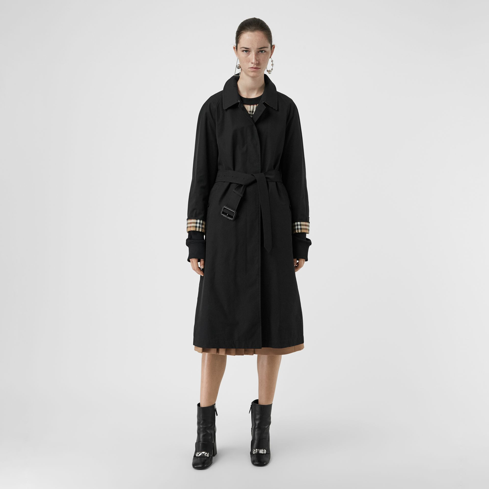The Brighton Car Coat in Black - Women | Burberry - gallery image 6