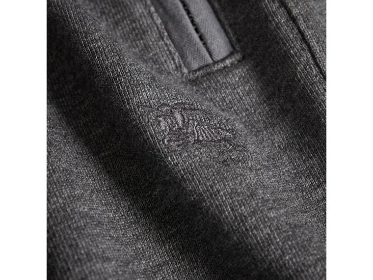 Drawcord Cotton Sweatpants in Charcoal Melange | Burberry Hong Kong - cell image 1