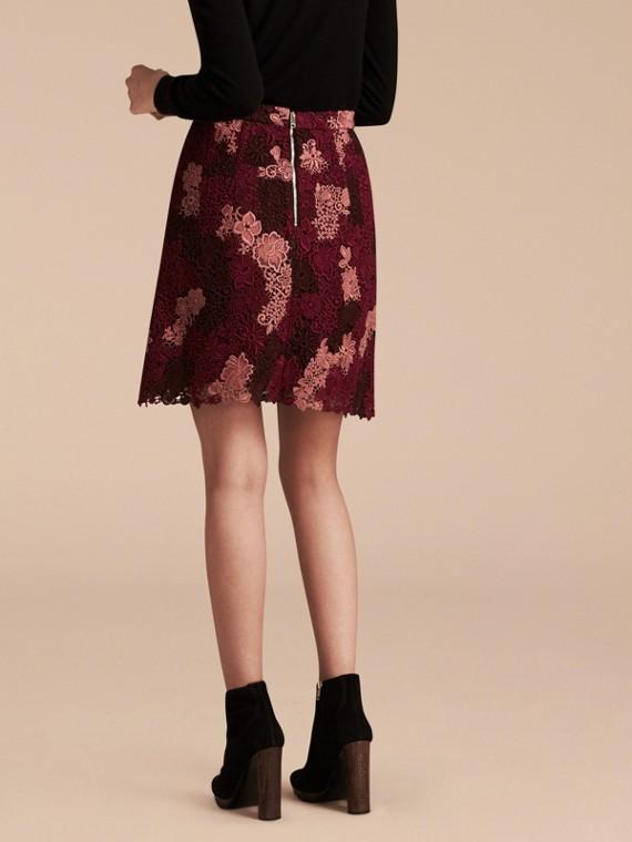 Deep claret Floral Italian Macramé Lace Skirt - cell image 2