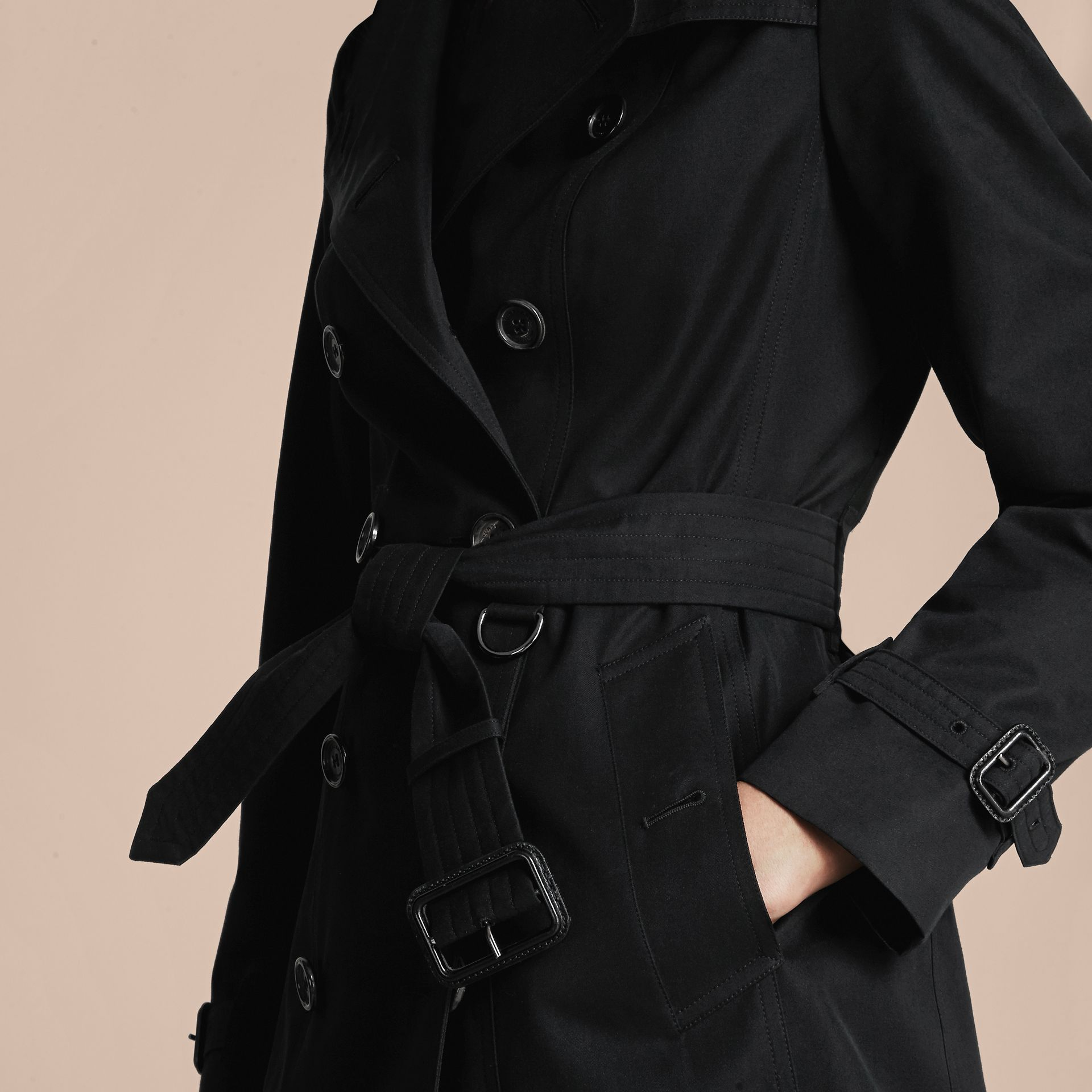 Noir The Sandringham – Trench-coat Heritage long Noir - photo de la galerie 6
