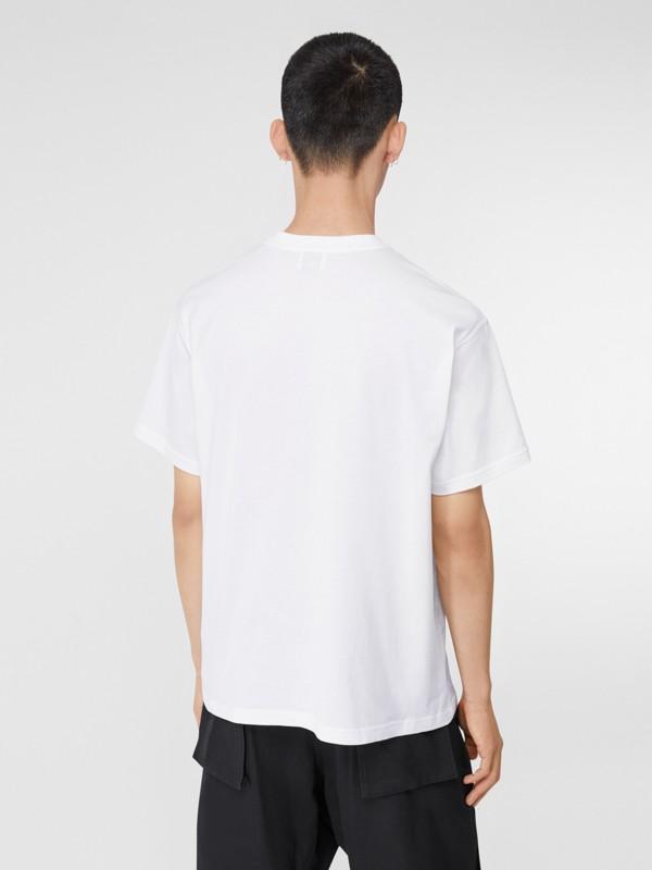 Monogram Motif Cotton Oversized T-shirt in White - Men | Burberry - cell image 2