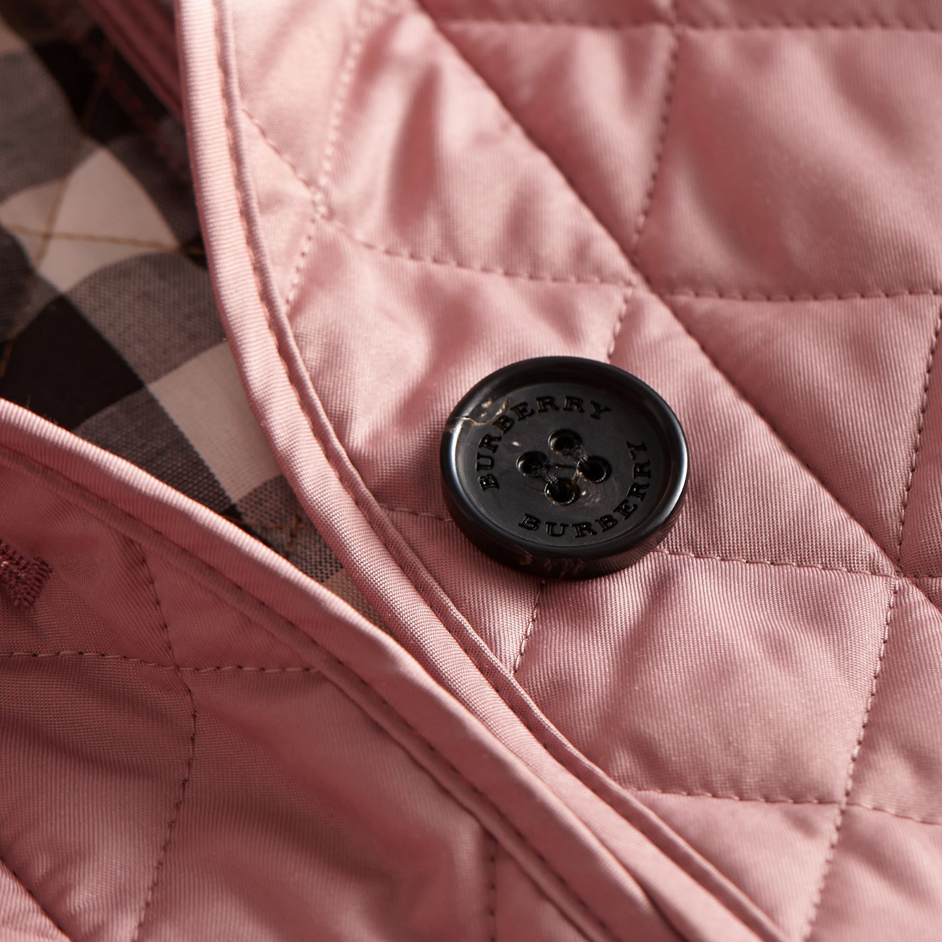 Diamond Quilted Jacket Vintage Rose - gallery image 2