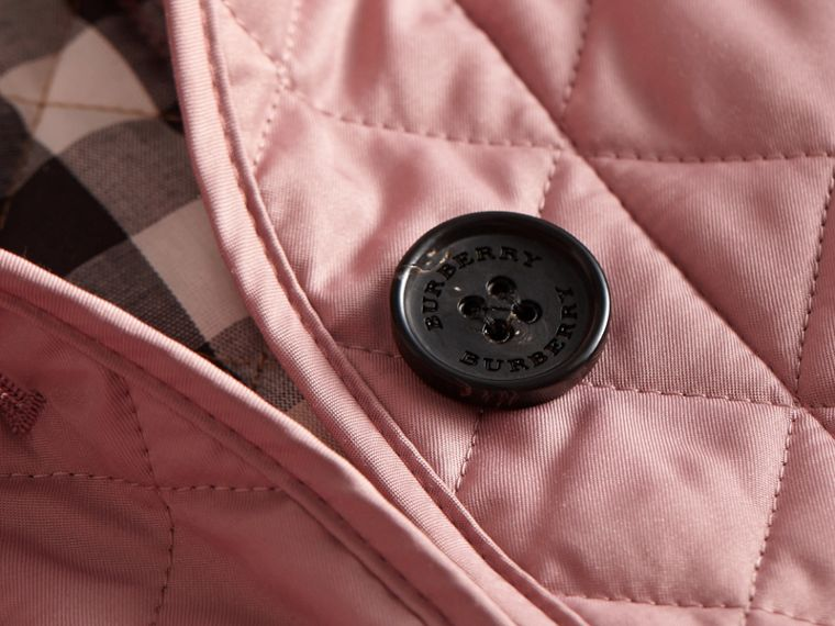 Diamond Quilted Jacket in Vintage Rose - cell image 1