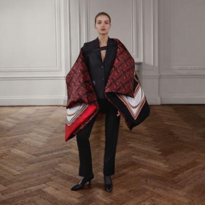 Veste tailleur en laine avec cuir (Noir) Femme | Burberry