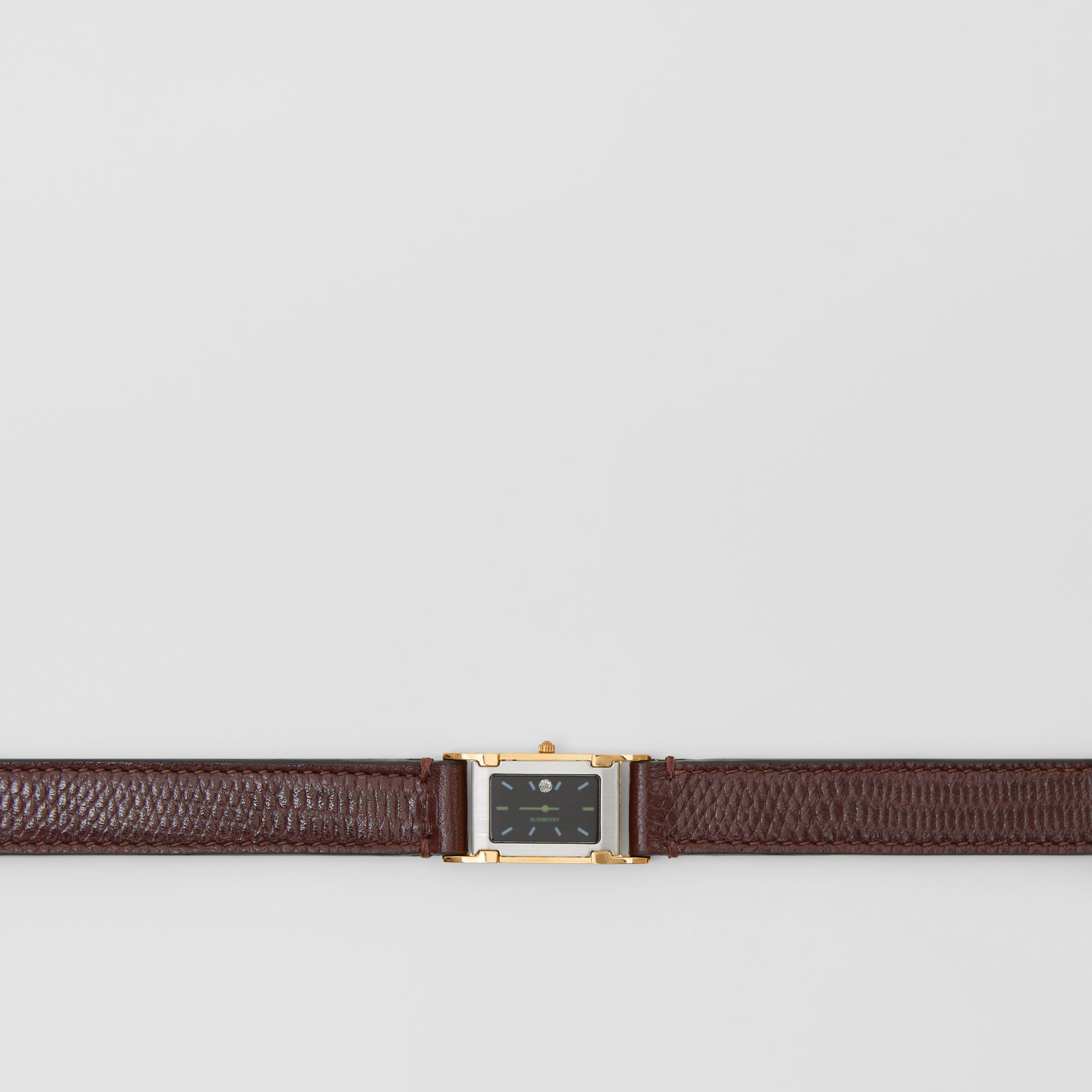 Faux Watch Detail Leather Belt in Tan - Women | Burberry - gallery image 1