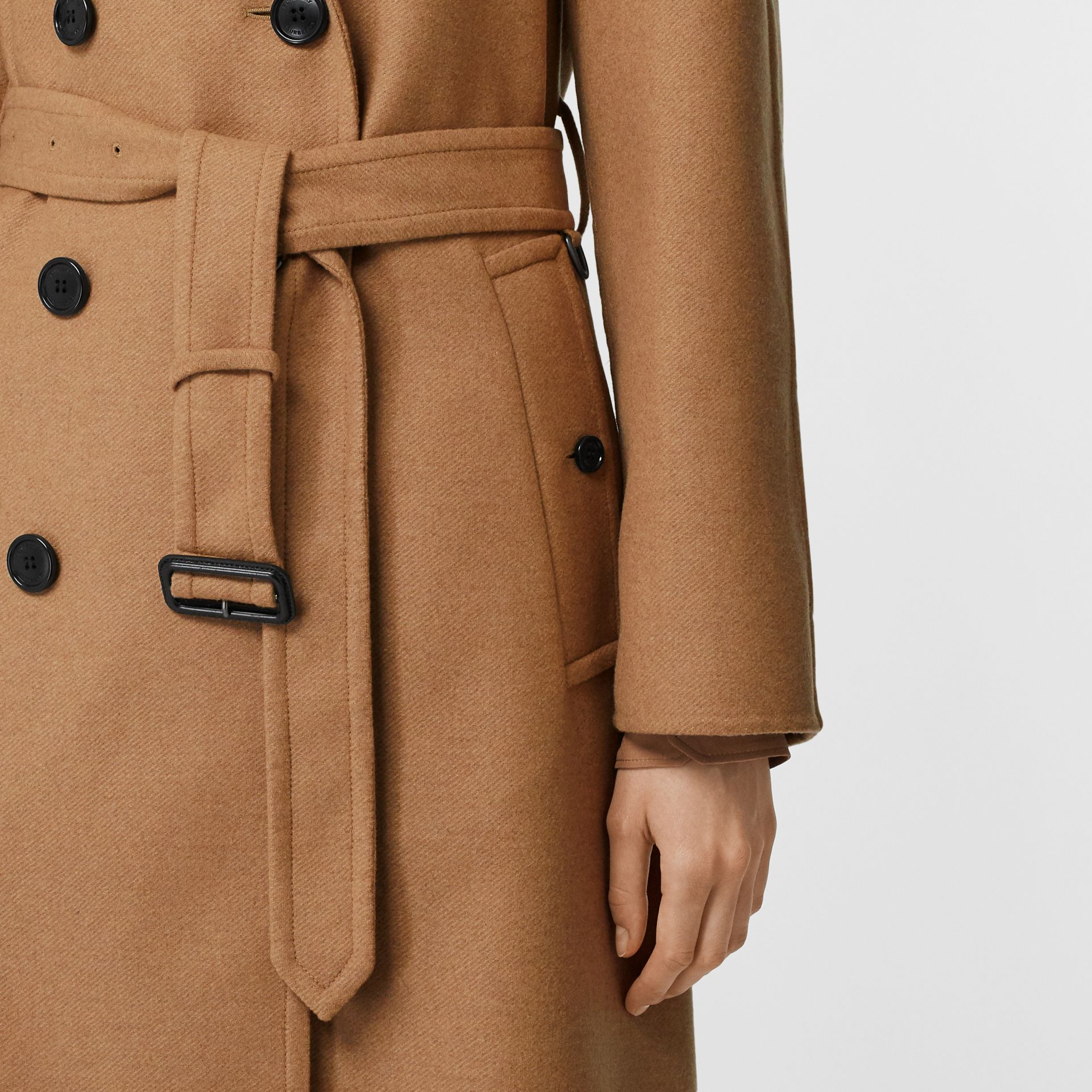 Cashmere Trench Coat in Bronze - Women | Burberry Singapore - gallery image 4