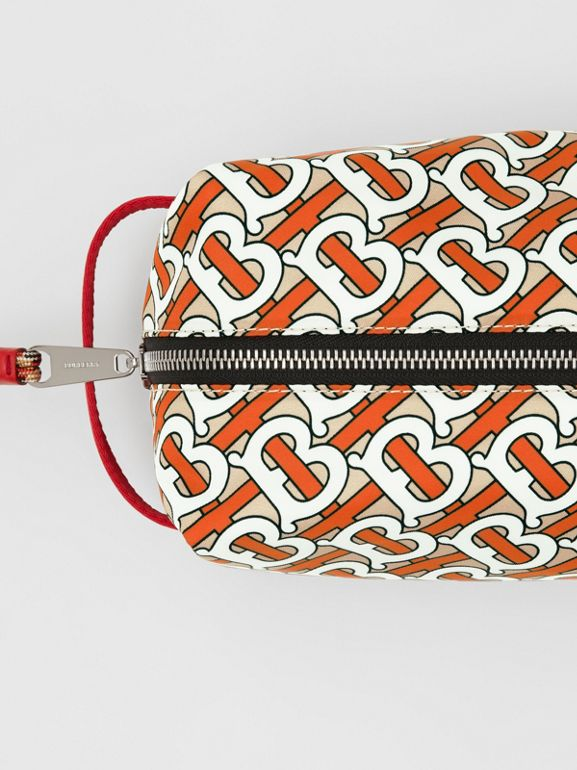 Monogram Print Nylon Pouch in Vermilion | Burberry Singapore - cell image 1