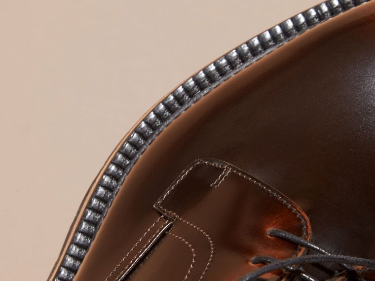 Bitter chocolate Burnished Leather Derby Shoes Bitter Chocolate - cell image 1