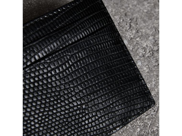 Lizard Card Case in Black | Burberry United Kingdom - cell image 1