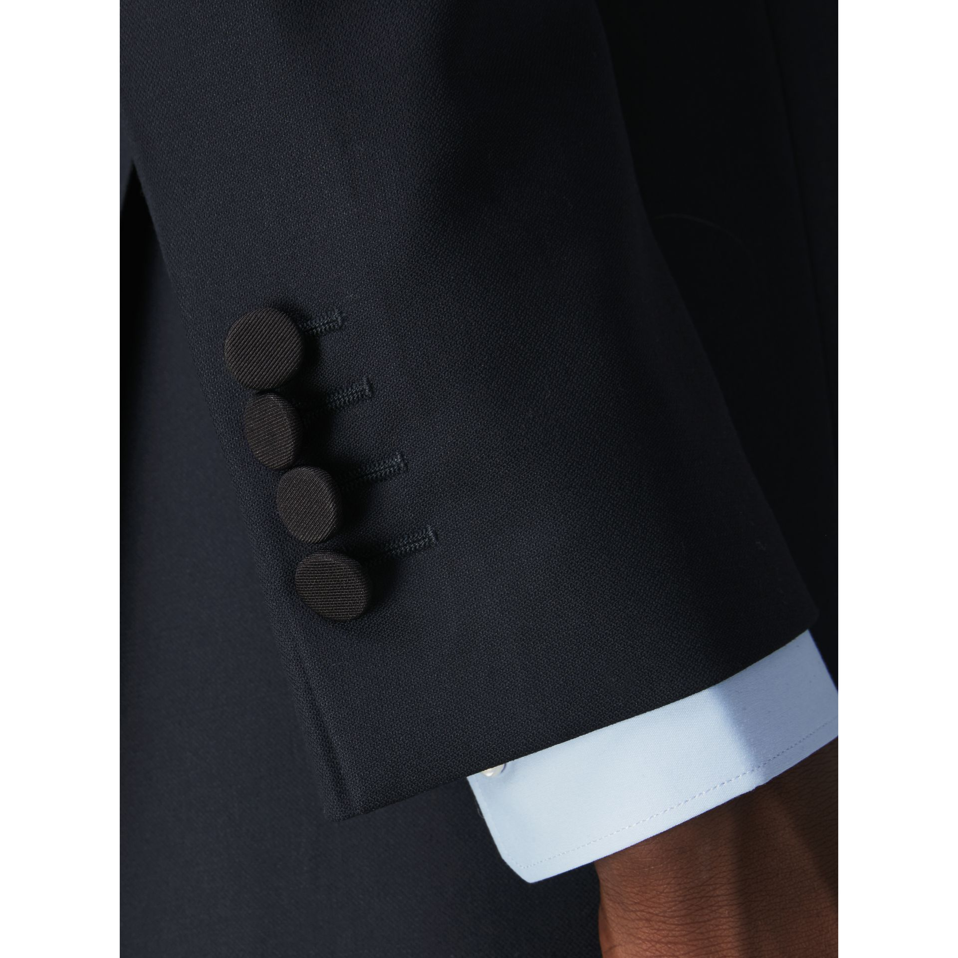 Slim Fit Wool Half-canvas Tuxedo in Navy - Men | Burberry Australia - gallery image 4