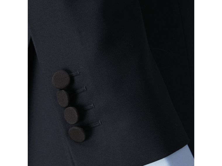 Slim Fit Wool Half-canvas Tuxedo in Navy - Men | Burberry Singapore - cell image 4