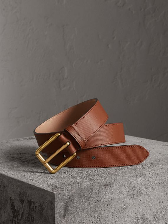 Trench Leather Belt in Tan