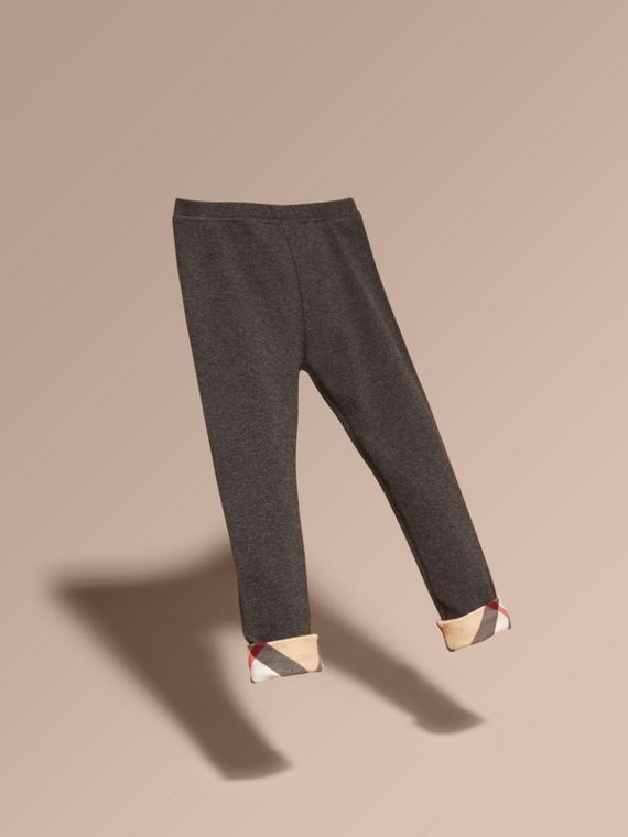 Mid grey melange Stretch Cotton Leggings Mid Grey Melange - cell image 2