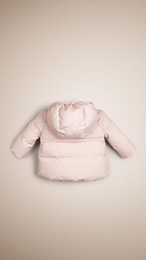 Ice pink Check-Lined Puffer Jacket - Image 2