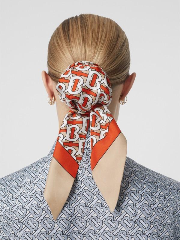 Foulard pour cheveux en soie Monogram (Vermillon) - Femme | Burberry Canada - cell image 2