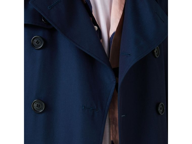 Cotton Gabardine Trench Coat in Teal Blue - Men | Burberry - cell image 4