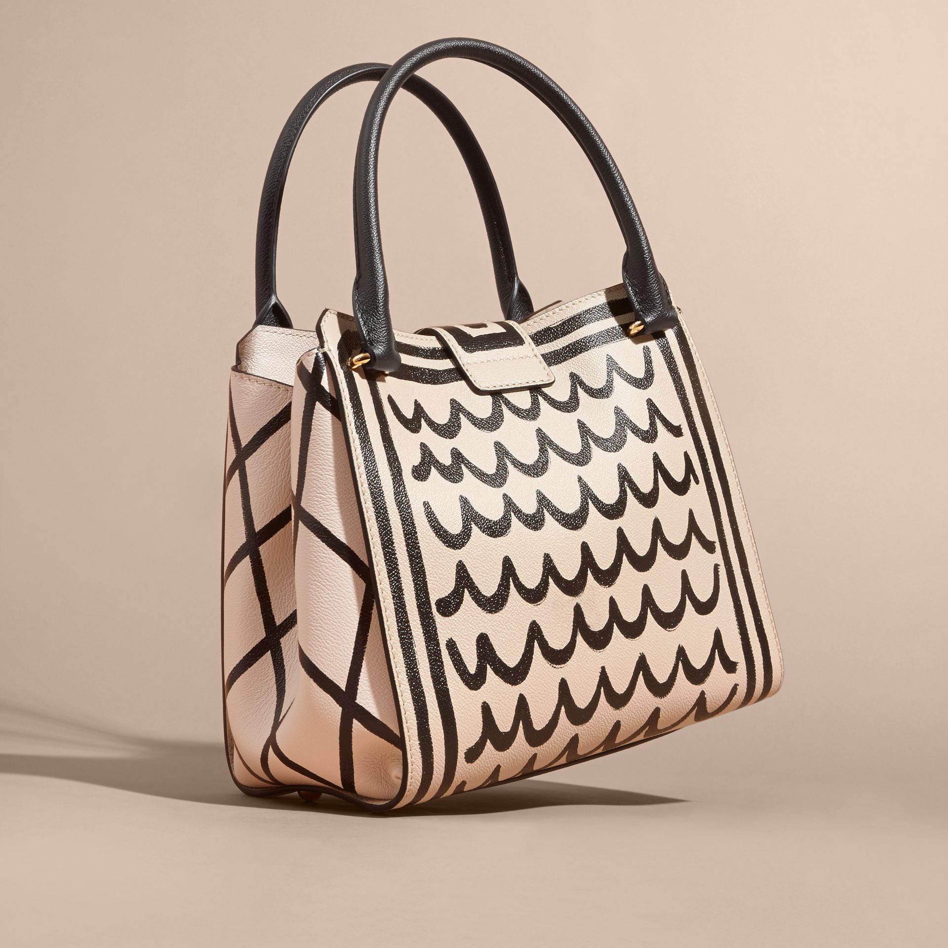 The Medium Buckle Tote in Trompe L'oeil Print Leather - gallery image 5