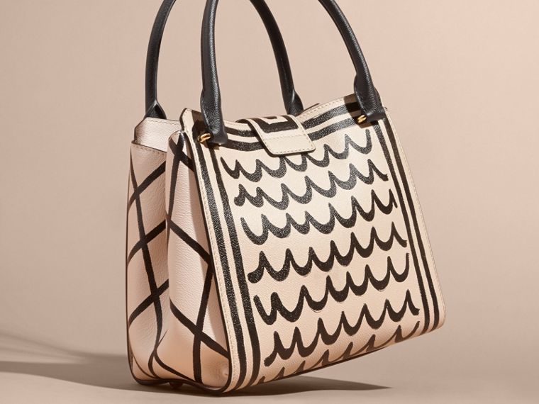 The Medium Buckle Tote in Trompe L'oeil Print Leather - cell image 4