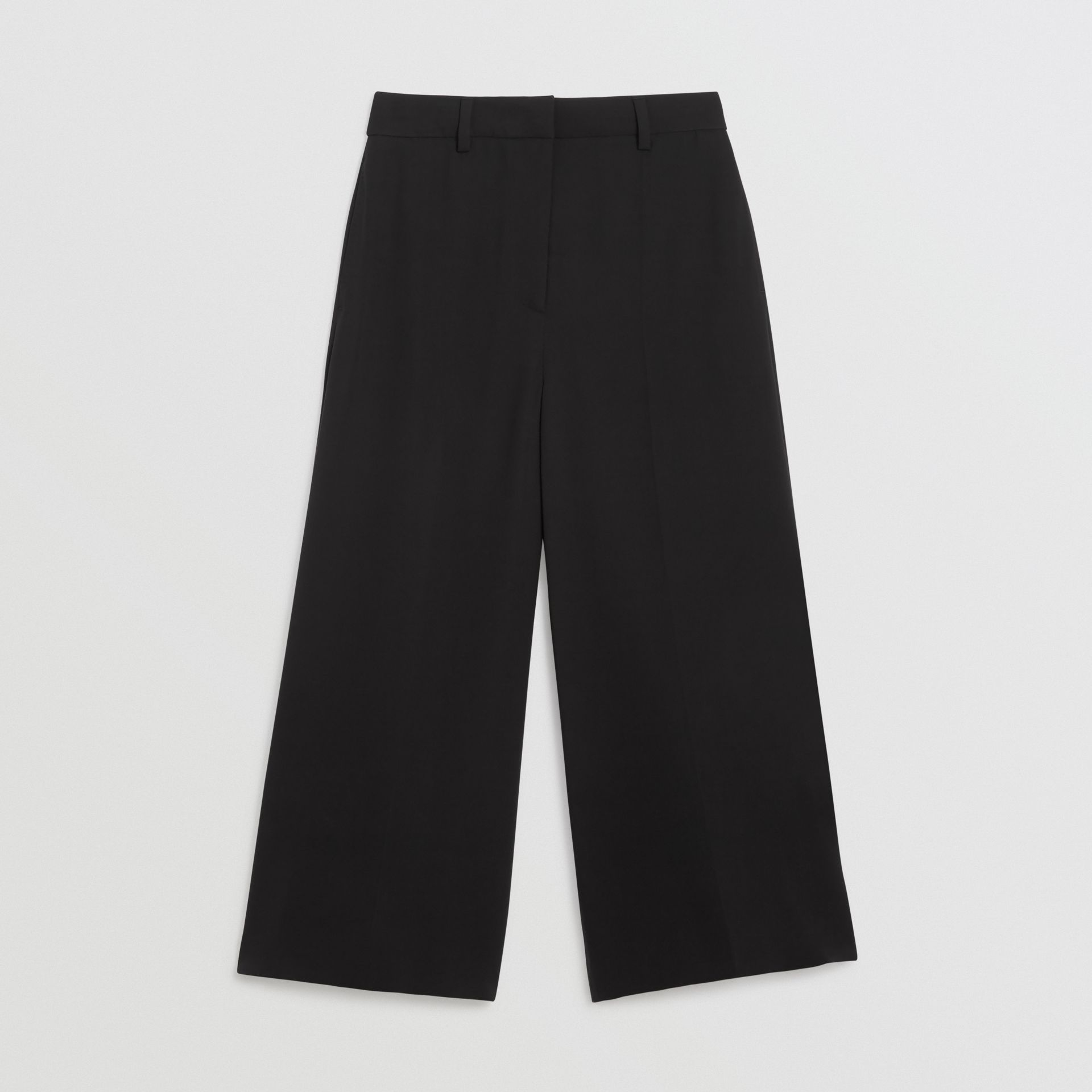 Silk Wool Tailored Culottes in Black - Women | Burberry - gallery image 3