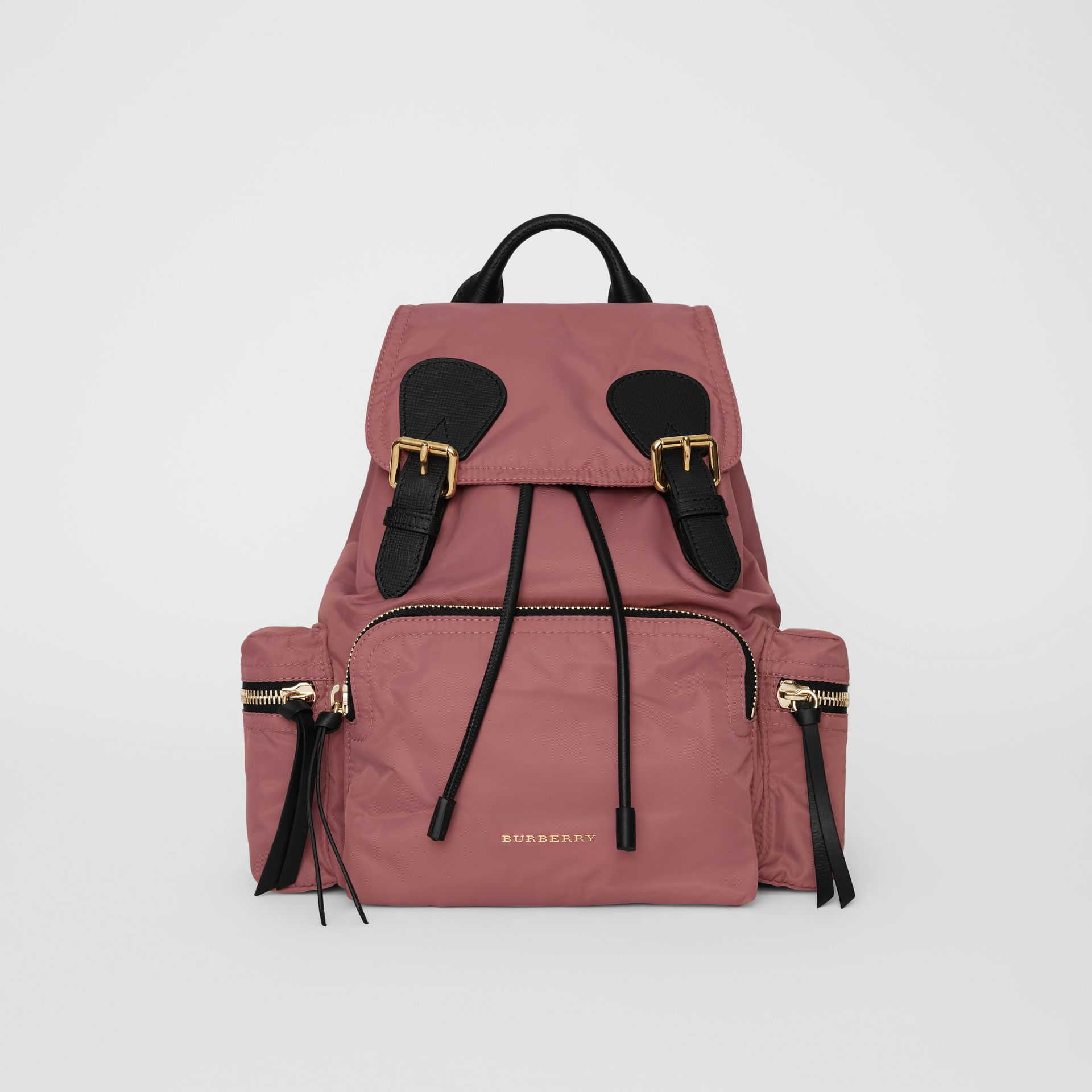 The Medium Rucksack in Technical Nylon and Leather in Mauve Pink - Women | Burberry - gallery image 0