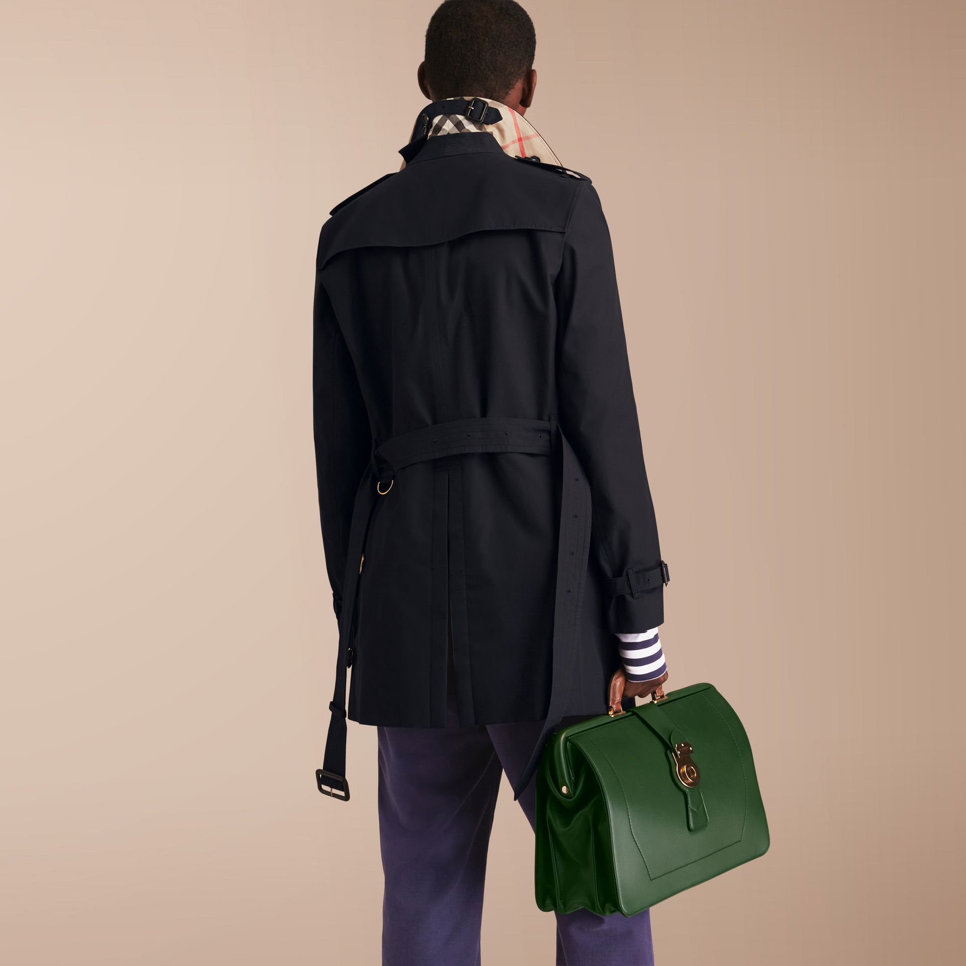The Chelsea – Mid-length Heritage Trench Coat in Navy - gallery image 3