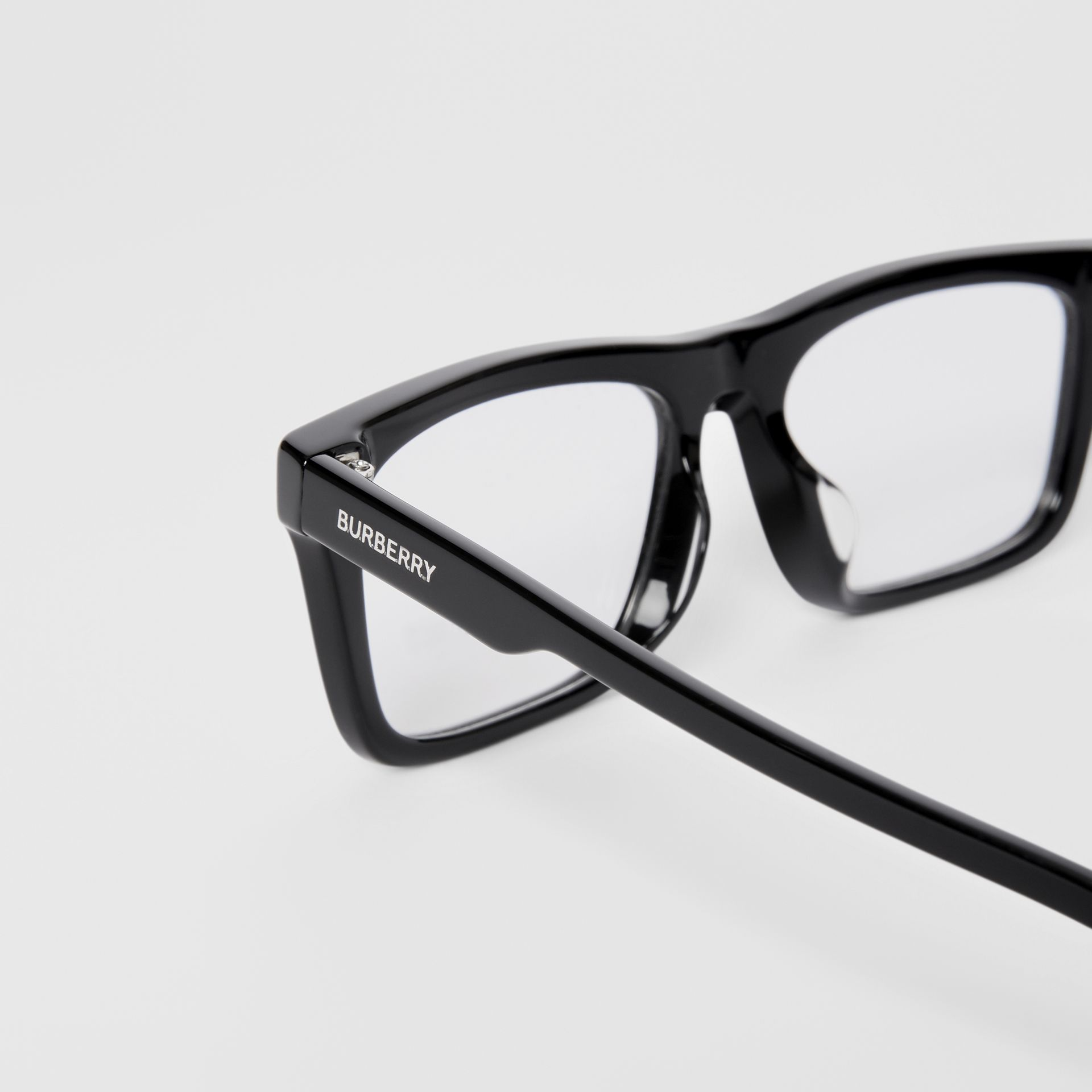 Rectangular Optical Frames in Black - Men | Burberry United Kingdom - gallery image 1