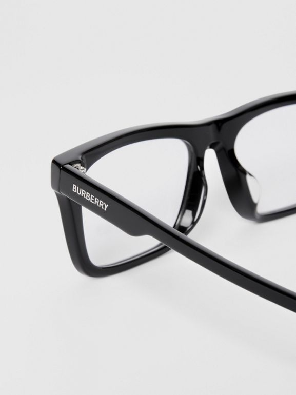 Rectangular Optical Frames in Black - Men | Burberry United Kingdom - cell image 1