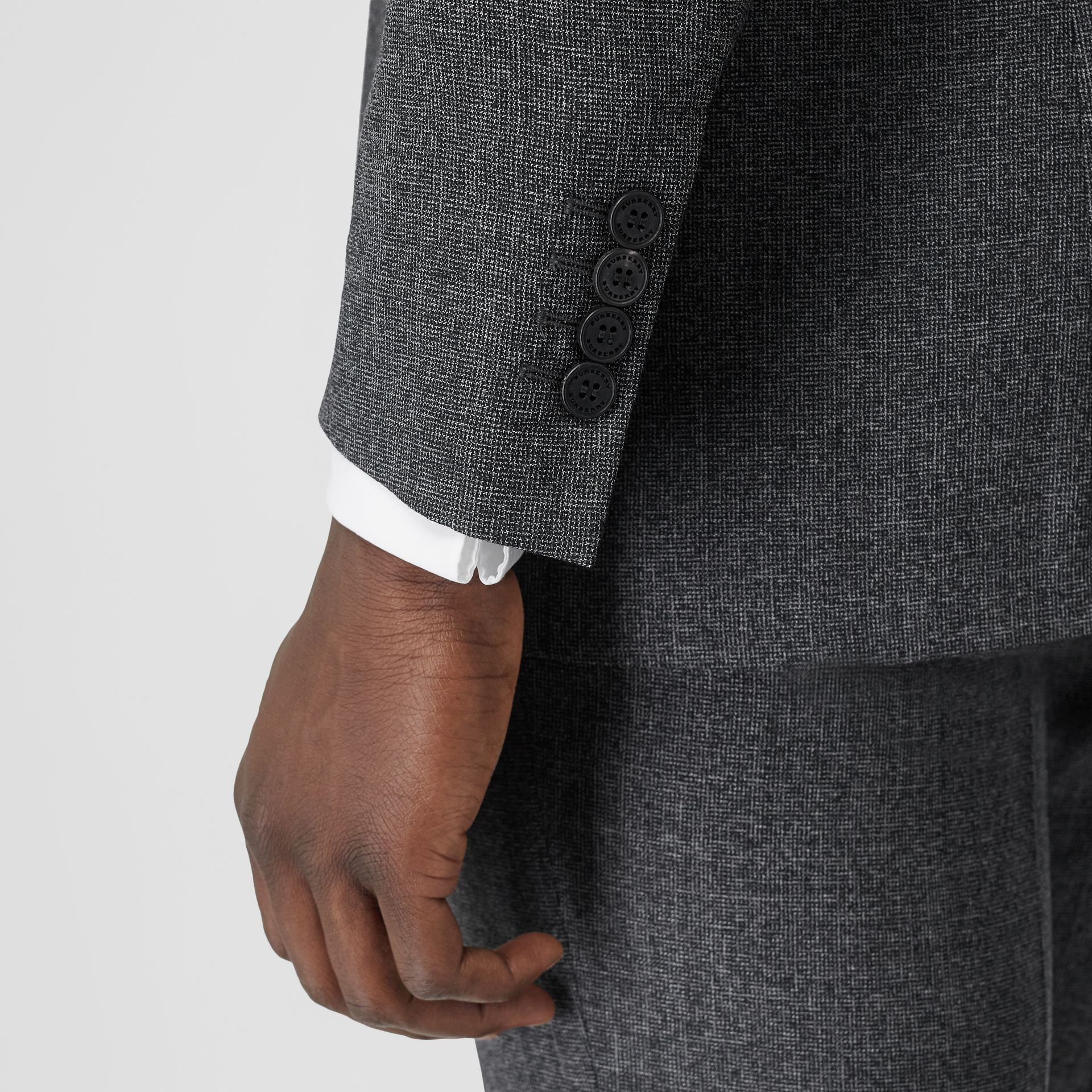 Classic Fit Melange Wool Three-piece Suit in Charcoal - Men | Burberry - gallery image 5