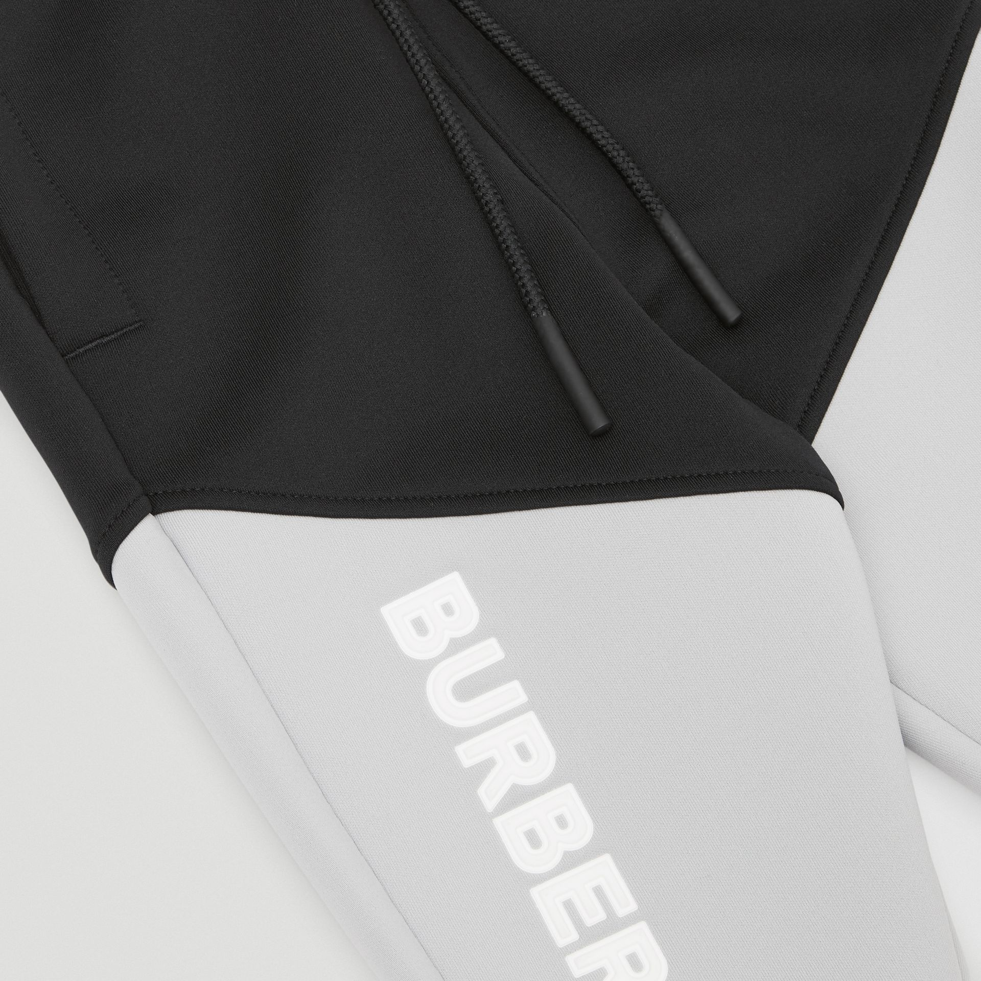 Logo Print Two-tone Stretch Jersey Trackpants in Black - Children | Burberry United States - gallery image 1