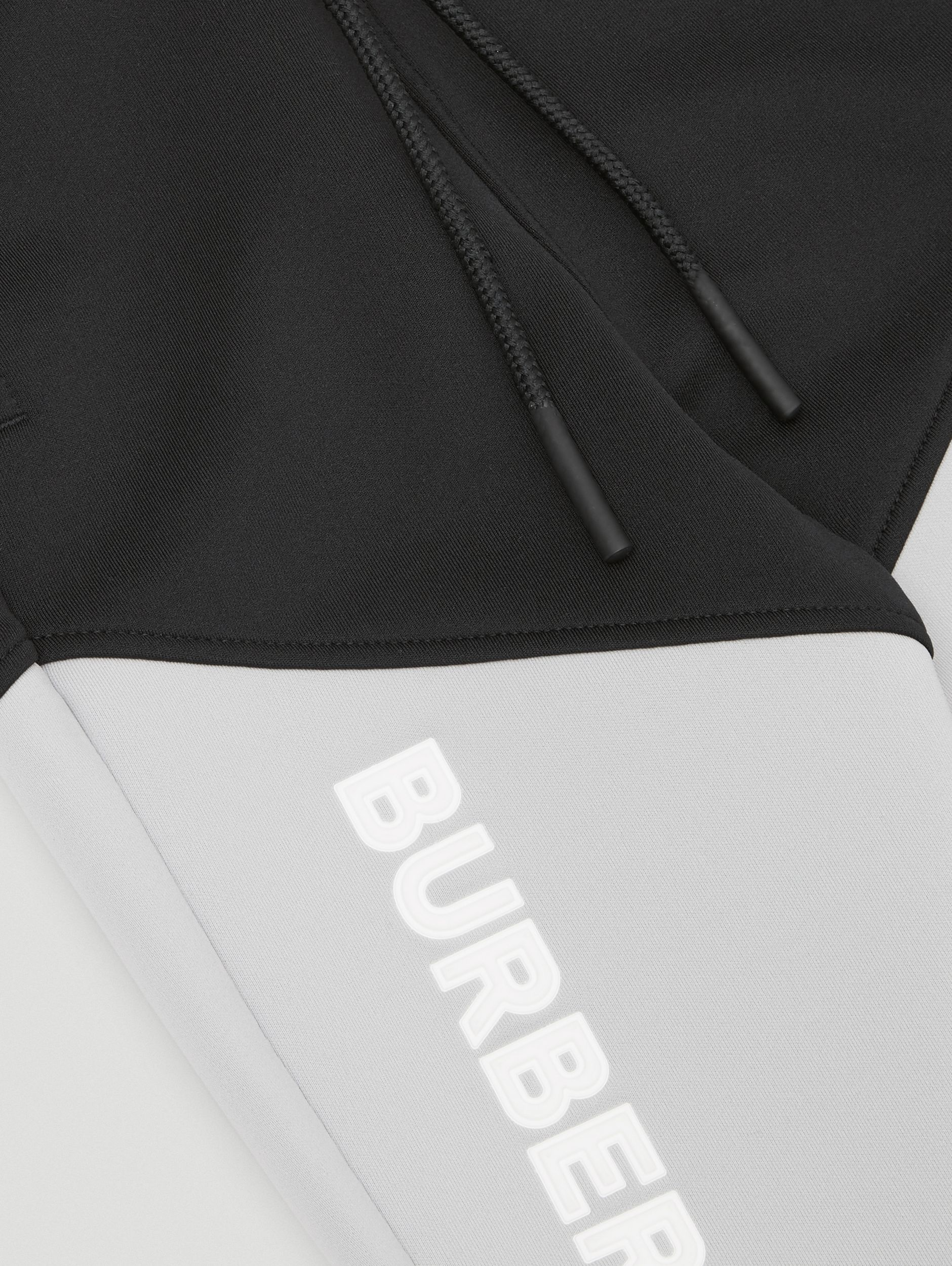 Logo Print Two-tone Stretch Jersey Trackpants in Black - Children | Burberry Singapore - 2