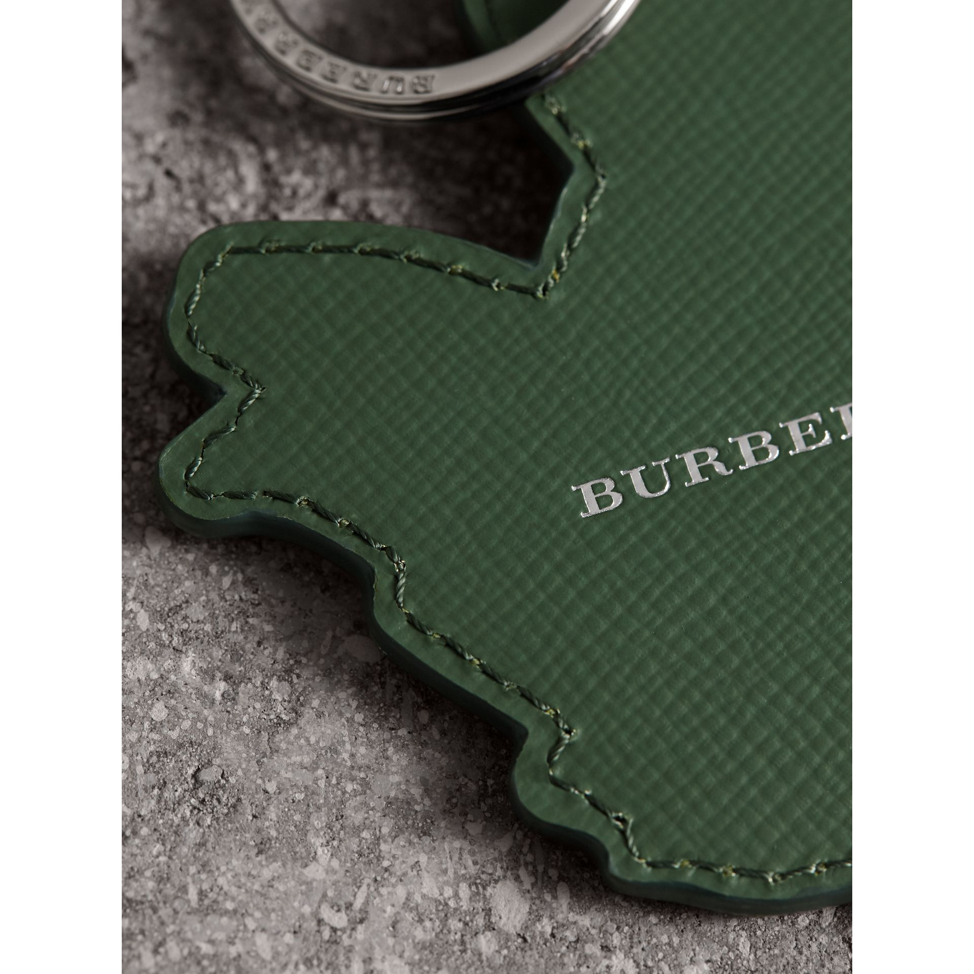 Beasts Leather Key Ring in Honey | Burberry - gallery image 1