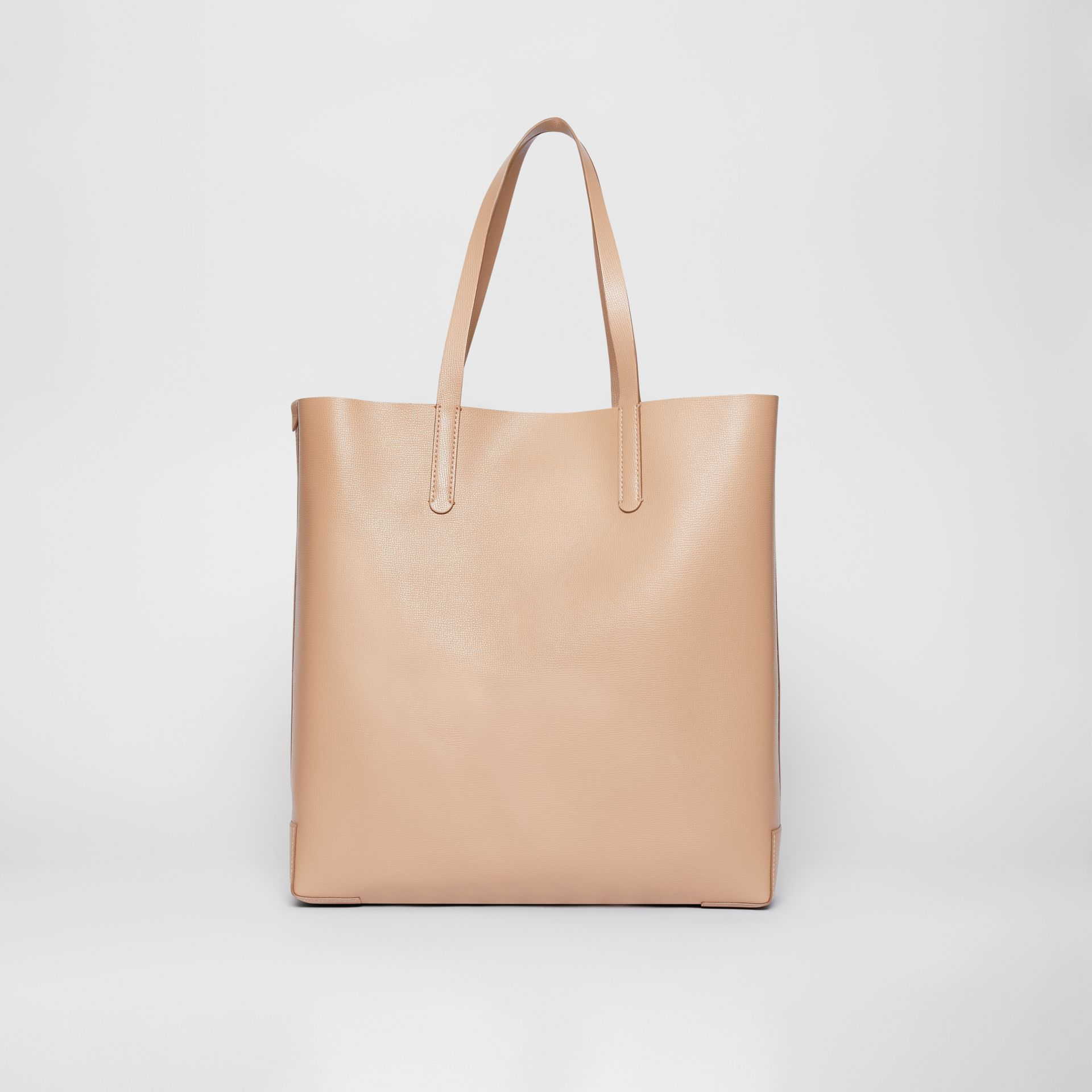 Large Embossed Monogram Motif Leather Tote in Camel | Burberry United Kingdom - gallery image 5