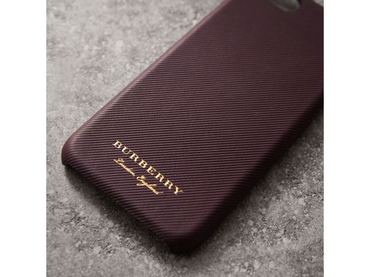 Trench Leather iPhone 7 Case in Wine | Burberry Australia - cell image 1