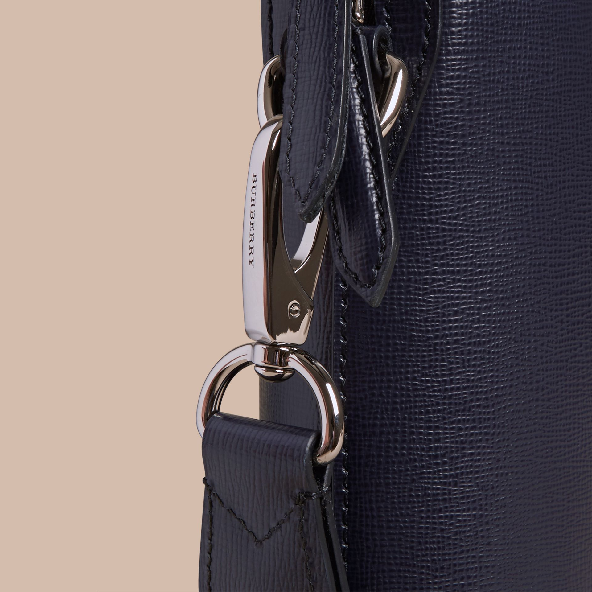 The Slim Barrow in London Leather Dark Navy - gallery image 6