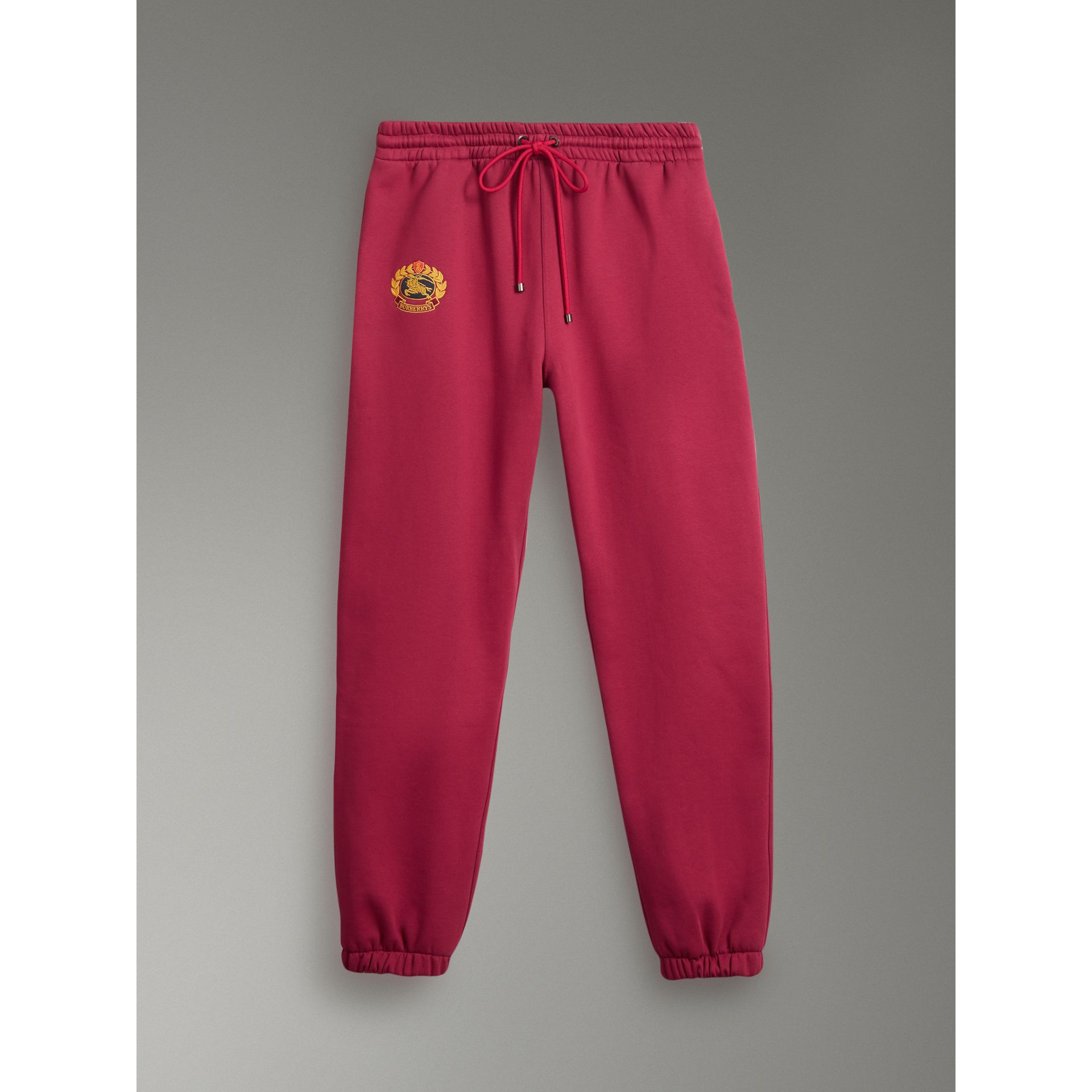 Archive Logo Jersey Sweatpants in Light Burgundy - Men | Burberry - gallery image 3