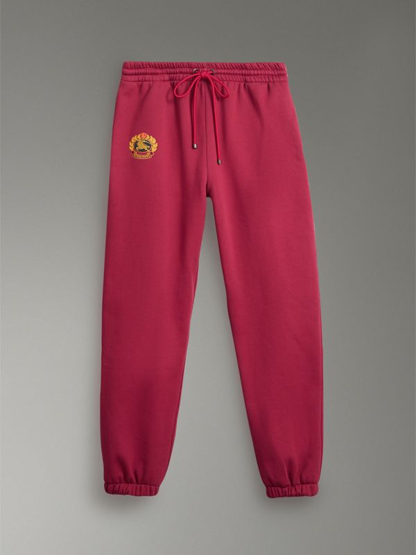 Archive Logo Jersey Sweatpants in Light Burgundy - Men | Burberry Singapore - cell image 3
