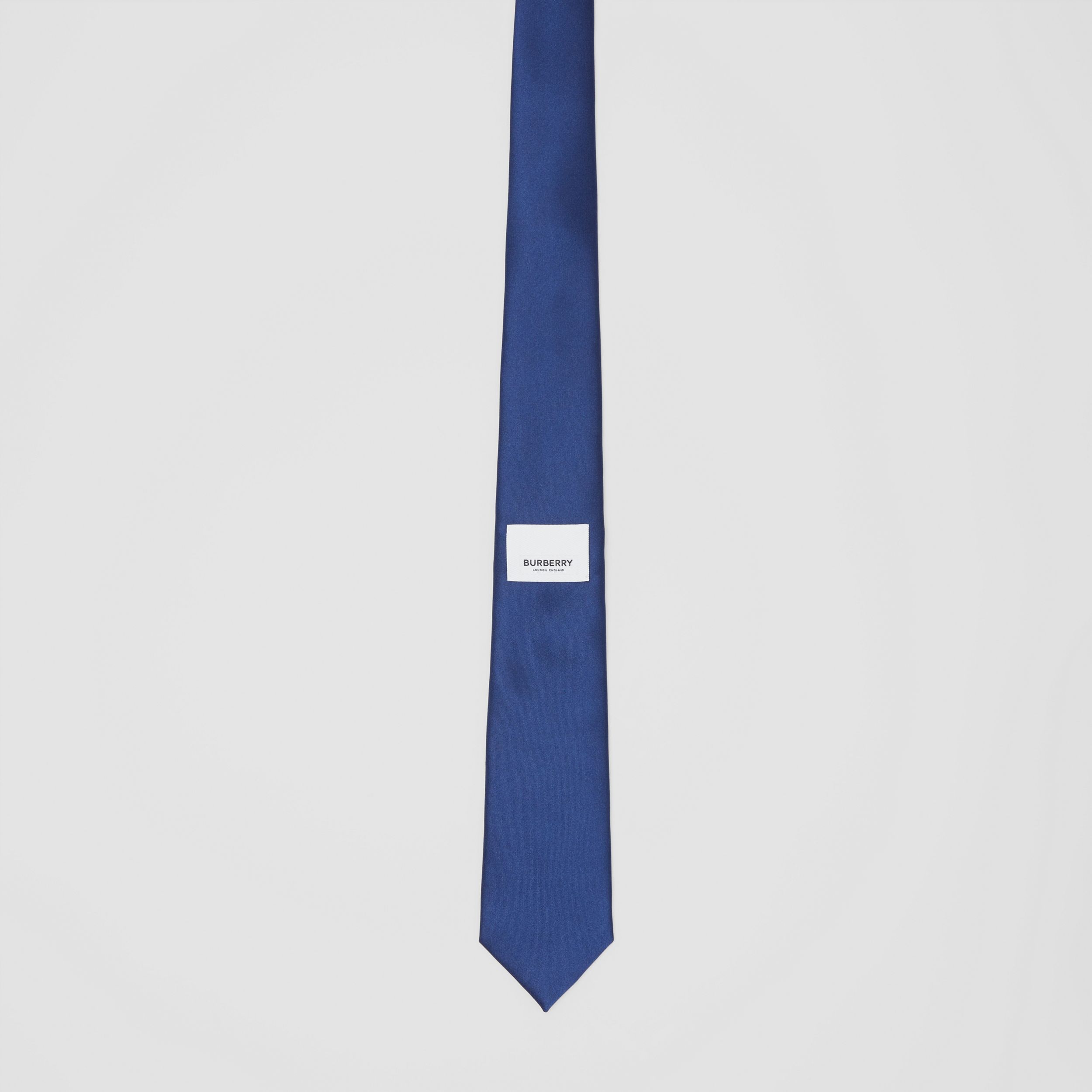Classic Cut Logo Appliqué Silk Satin Tie in Sapphire Blue - Men | Burberry Hong Kong S.A.R - 4